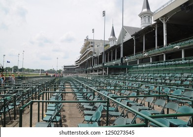 Churchill Downs, horse race track, Louisville, Kentucky, opening seating area, May 27th, 2016