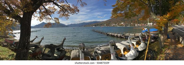 Chuzenji Lake at Nikko in Autumn