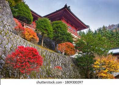 Chuzen-ji Temple in Nikko, Tochigi, Japan during autumn season. - Shutterstock ID 1809300397