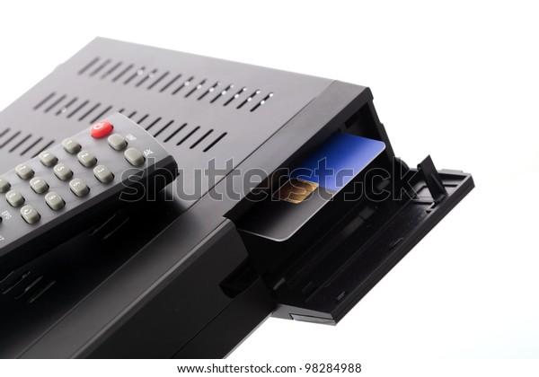 Ci Kartenslot.Ci Slot Satellite Receiver Stock Photo Edit Now 98284988
