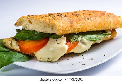 with ciabatta and cheese snack