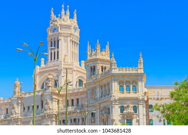 Cibeles Center or  Palace of Communication, Culture and Citizenship Centre in the Cibeles Square of Madrid (Plaza Cibeles).