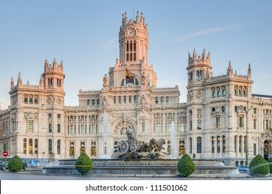 Cibeles Fountain located downtown Madrid, Spain