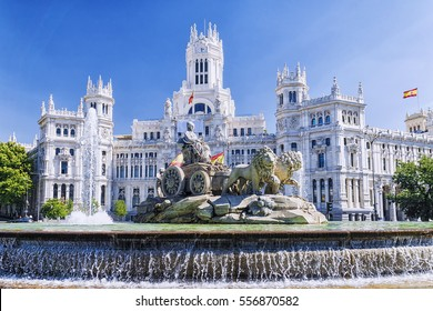 Cibeles fountain in Madrid, Spain