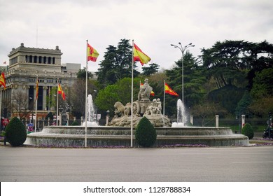 Cibeles fountain at Plaza de Cibeles in Madrid, Spain