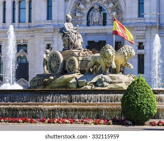 Cibeles Fountain - a fountain in the square of the same name in Madrid