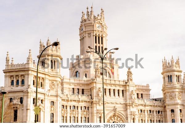 Cibeles Palace Palacio De Cibeles Madrid Stock Photo Edit