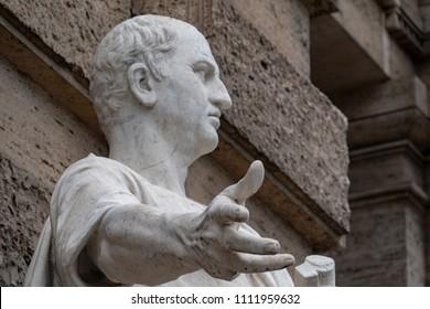 Cicero Cicerone statue in Rome