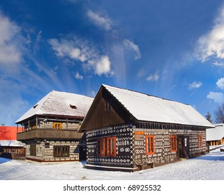 Cicmany, Slovakia, old wood house