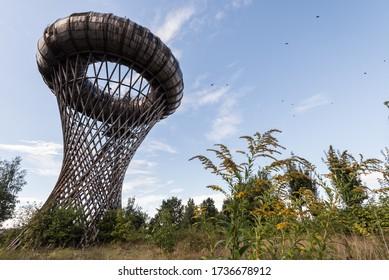 Ciechanow water tower in Poland unusual tower