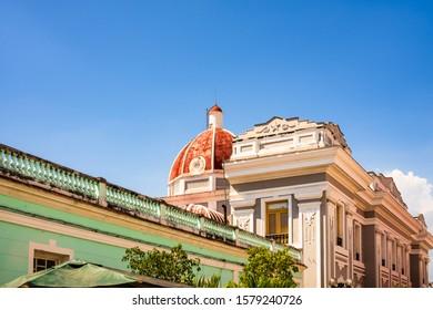 Cienfuegos City Hall building on the Jose Marti square, the main square of the city, Cienfuegos Province, Cuba
