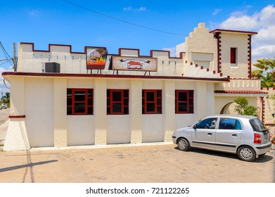 CIENFUEGOS, CUBA - SEP 7, 2017: Architecture of Cienfuegos, Cuba. The town was founded by French settlers in 1819