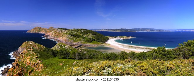Cies Islands, National Park Maritime-Terrestrial of the Atlantic Islands of Galicia, Spain.