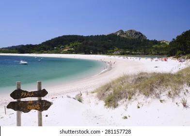 Cies Islands, National Park Maritime-Terrestrial of the Atlantic Islands of Galicia in Spain.