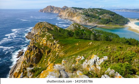Cies Islands. Natural paradise in Galicia. Spain,