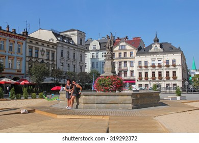 Cieszyn - AUGUST 30: beautiful old town and market square in Cieszyn; on August 30, 2015 in Cieszyn, Poland.