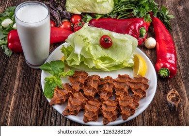 """Cig kofte, a raw meat dish in Turkish and Armenian cuisines. Turkish cig means """"raw"""" and kofte means meatball."""