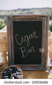 Cigar Bar at Wedding