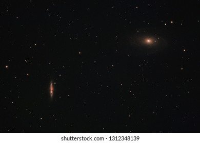 The Cigar and Bode's Galaxy in the constellation Ursa Major photographed from Mannheim in Germany.