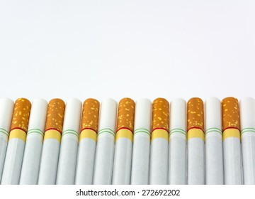 Cigarette addiction, selective focus