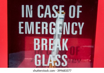 Case emergency break glass get cigarette stock photo edit now a cigarette in a box with safety glass maxwellsz