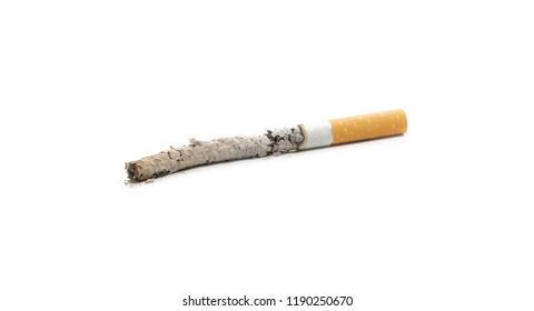 Cigarette butt, stub isolated on white