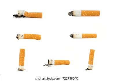 cigarette butte isolated on white background.