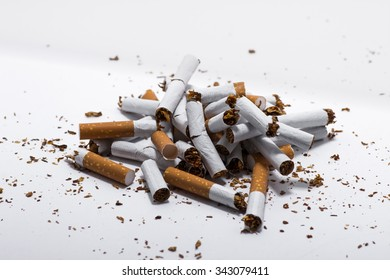 Cigarette concept isolated on white background