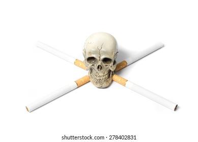 cigarette with death skull