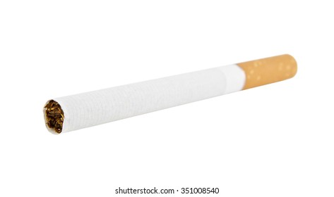 a cigarette is isolated on a white background