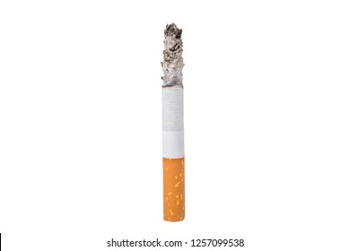 A cigarette isolated at the white background