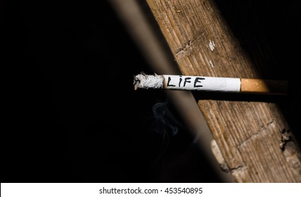 Cigarette, life, hand, scissors