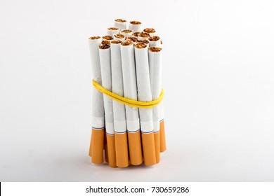 cigarette, cigarette on white background, pack of cigarettes, close-up of a cigarette