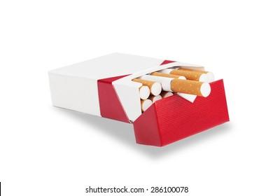 Cigarette, Cigarette Pack, Isolated.