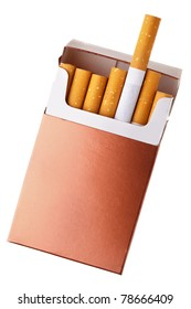 Cigarette pack isolated over the white background