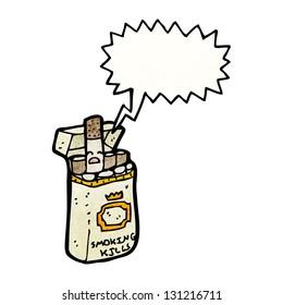 cigarette packet cartoon