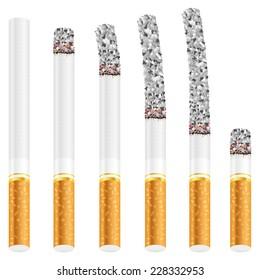 cigarette set illustration.