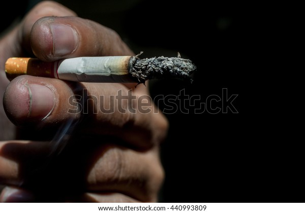 Cigarette Smoke Causes Oral Cancer Bad Stock Photo (Edit Now