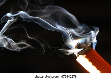 Cigarette smoke / Smoke is a collection of airborne solid and liquid particulates and gases emitted when a material undergoes combustion