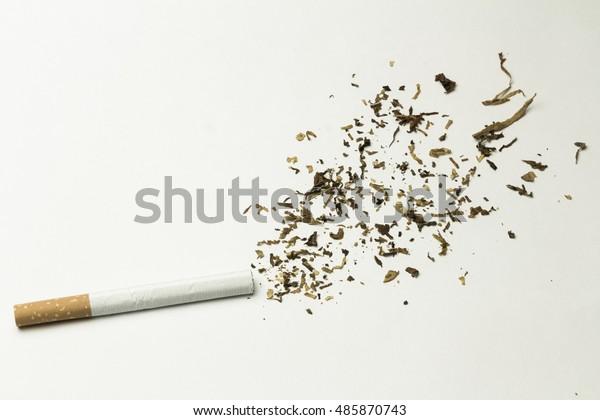 Cigarette Smoke Splash Made Out Tobacco Stock Photo (Edit Now) 485870743