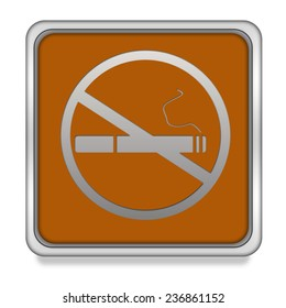 Cigarette square icon on white background