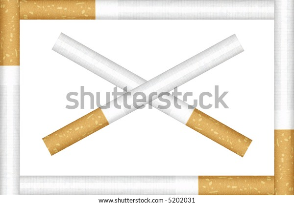Cigarettes in the frame