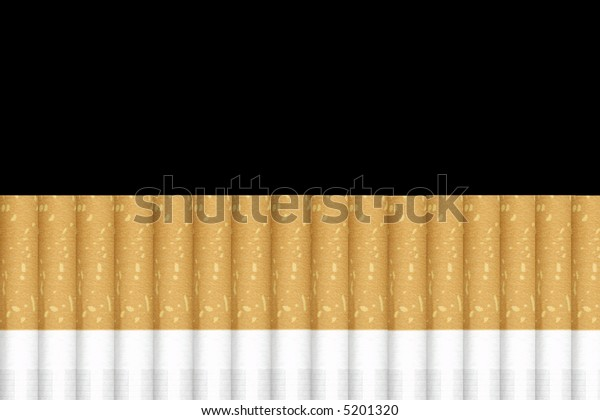 A lot of cigarettes isolated on black