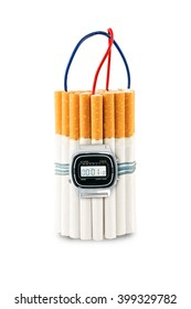 Cigarettes like a time bomb