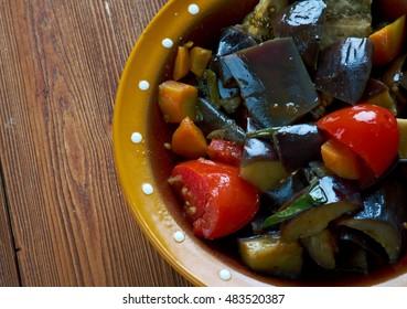 Cilento Ciambotta - dish of southern Italian cuisine