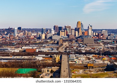 Cincinnati - Circa February 2019: Downtown Cincinnati Skyline. Cincinnati is known for the Reds, Bengals, chili and its historic architecture III