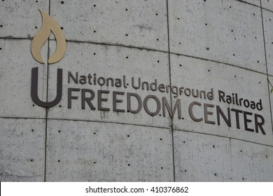 CINCINNATI, OH -20 APRIL 2016- Opened in 2004, the National Underground Railroad Freedom Center is a museum in downtown Cincinnati paying tribute to efforts to abolish slavery.