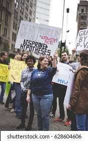 CINCINNATI, OH - APRIL 22 Protesters March for Science in Downtown Cincinnati on Earth Day APRIL 22, 2017.