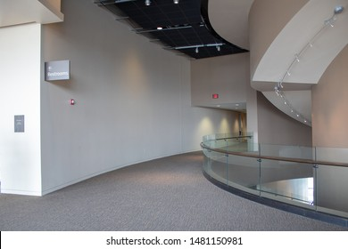 Cincinnati, OH / USA - April 23, 2019: View of corridor inside the National Underground Railroad Freedom Center.