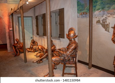 Cincinnati, OH / USA - April 23, 2019: History of slavery exhibit in the Freedom Center in Cincinnati, Oh.